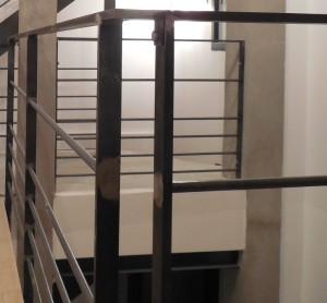 garde corps 1er etage autour mezanine details