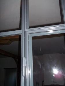 verriere cloison type atelier partie fixe et porte detail interieure