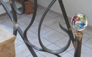 Rampe fer forgé ferronnerie coup de fouet detail 2