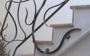 Rampe fer forgé ferronnerie coup de fouet detail 3